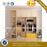 Diseño de rincón de armario para ropa plegable de madera maciza armario (HX-8NR0772)