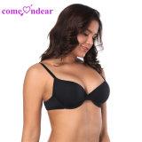 En Stock más suave de alta calidad Negro Tamaño de las comodidades básicas T-Shirt Puch up Bra