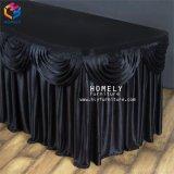 Noble Polyesterspandex-Vierecks-Bankett-Tisch-Fußleiste für Hochzeit