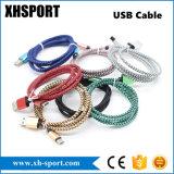 다채로운 나일론 땋는 USB 충전기 Sync 데이터 케이블