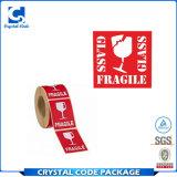 Etiquetas engomadas frágiles llamativas de las escrituras de la etiqueta del precio bajo de China