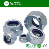 Verzinkte galvanisierte Hex Kopf-Nyloneinlage-Gegenmutter (DIN985)