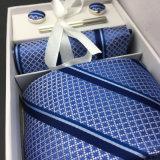 Parfait cadeau de noeud à la main de la Soie tissée Cufflink cravate ensemble