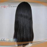 Peluca judía superior de la piel del pelo humano (PPG-l-0647)