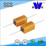 Resistor Wirewound fijo del poder más elevado de oro