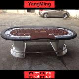 Platten-fördert ovaler Fuss-Wert Texas-Kasino-Tisch (YM-TB018)