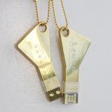 Lecteur flash USB promotionnel de clé d'or de cadeaux (YT-3213-04)