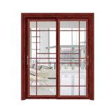 Высокое качество китайского стиля алюминиевые раздвижные двери с оформлением шаблона