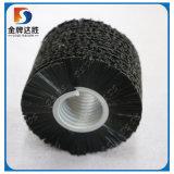 Escovas espirais exteriores circulares materiais de nylon industriais do rolo