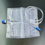 Медицинский одноразовый мешок для стока мочи с T клапан