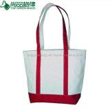 Zoll gedruckte Segeltuchtote-Beutel-billig beige weiße BaumwollEinkaufstasche