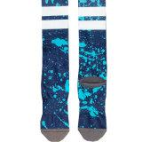 Оптовая торговля печатной схеме Custom голубой хлопок Sock Sublimated печать