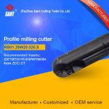 Fresadoras CNC de carburo de tungsteno de corte Herramientas de corte para la molienda de perfil