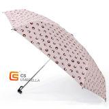 Tragbarer Regenschirm mit kleiner Katze, 5 zusammenklappbare Geschenke für Damen/Kinder (YS5F009B)