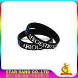 Bracelet de silicium rempli par couleur faite sur commande promotionnelle de Debossed, bracelet en caoutchouc de silicones