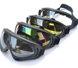 Óculos de proteção transparentes de Airsoft dos óculos de proteção da proteção do vento do X.400 da cor