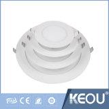 3W 9W 18W 24W Silver LED du panneau de plafond en bois
