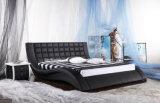 Кровать кровати Chesterfield самомоднейшим Италии кожаный изогнутая комплектом