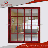 American Style Aluminum Alloy Sliding DOOR with Grill Design