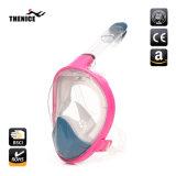Prémio de novo equipamento de mergulho máscara facial inteira 180 graus máscara de mergulho com snorkel para câmera Gopro