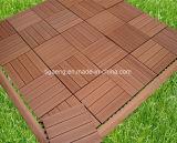 Tuile en bois extérieure de Decking de PE/anti plancher UV d'Outerior DIY WPC