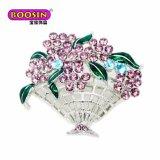Brooch bonito elegante da flor do metal da forma para mulheres