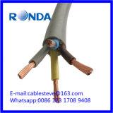 Sqmm flexível do cabo de fio elétrico 4X2.5 do PVC