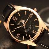 El reloj de oro de clase superior de los hombres de caso de H370 Rose con ahueca hacia fuera el reloj del diseño del puntero para los hombres