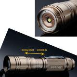 S10 de 400 lumen recargable de oro de aluminio Zoom fácil llevar linterna LED Mini ajustable