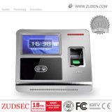 Tiempo de huellas digitales biométrico de reconocimiento facial asistencia
