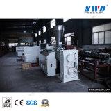 UPVC dos cavidades de PVC Tubo la producción y la línea de extrusión