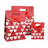 Die Cut свадебные конфеты подарочный бумажный мешок с лентой (YH-PGB116)