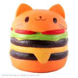 Los niños lento aumento de la Hamburguesa de Gato antiestrés Novedad Squishy Squeeze Juguetes