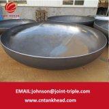 01-36 testa ellittica del acciaio al carbonio della lager di ASME per il contenitore a pressione ID5300mm*16mm