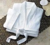 Hotel de precio de fábrica al por mayor de las mujeres blancas de algodón toalla de felpa de terciopelo albornoz