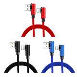 Pour l'iPhone XS/iPhone/iPhone Xr Xs Max coude de 90° tressé Câble USB