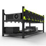 8 GPU de aluminio de la Plataforma de minería Minería apilable Plataforma Caso