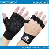 Plena Protección de la palma el levantamiento de pesas gimnasio guantes para tirar de UPS