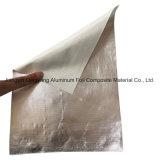 アルミホイルの薄板にされたガラス繊維の布ファブリック