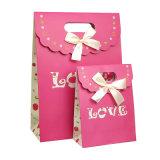 Дизайн пользовательских свадебные конфеты подарочный пакет с ленты бумаги (YH-PGB113)