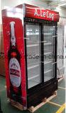 باب مزدوجة [أنتي-فوغ] زجاجيّة قائم عرض مبرّد لأنّ شراب في مخزن