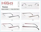Optische Frame van het Titanium van de Kwaliteit van China het Nieuwe Model Hete Randloze