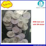scheda della moneta del PVC della modifica del disco di 125kHz RFID per presenza di tempo