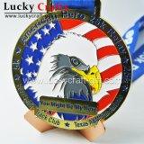 Medaille van het Metaal van de Sport van de Marathon van de Legering van het Zink van de Gift van de Bevordering van de douane de Lopende