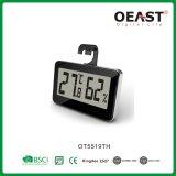 ホックOt5519thが付いている小型デジタル体温計そして湿気C/Fスイッチ