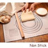 Het silicone bedekte de Hoge Hittebestendige Gadgets die van de Keuken van de Mat van het Baksel Hulpmiddelen koken met een laag Bakkend Matten