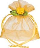 クリスマスのプレゼントのパッキング(COB-1147)のための多彩な個人化されたオーガンザのサテンのリボンのドローストリング袋
