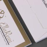 Golddruck-Firmenzeichen danken Ihnen zu kardieren für Großverkauf