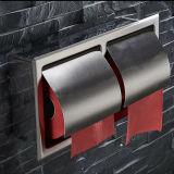 壁に取り付けられたInoxのステンレス鋼の倍のトイレットペーパーのホールダーの浴室のアクセサリの二重トイレットペーパーホールダー