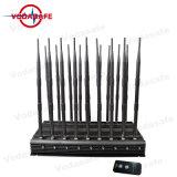 Высокая мощность 18 антенна UHF VHF сигнала перепускной, регулируемые 3G Wimax 4G телефона Jammer valve & GPS VHF UHF Bluetooth сигнал блокировки всплывающих окон